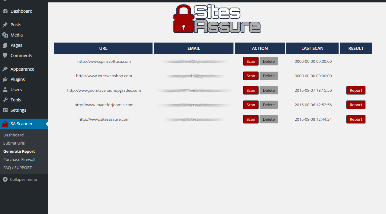 sitesassure-wp-malware-scanner screenshot 3