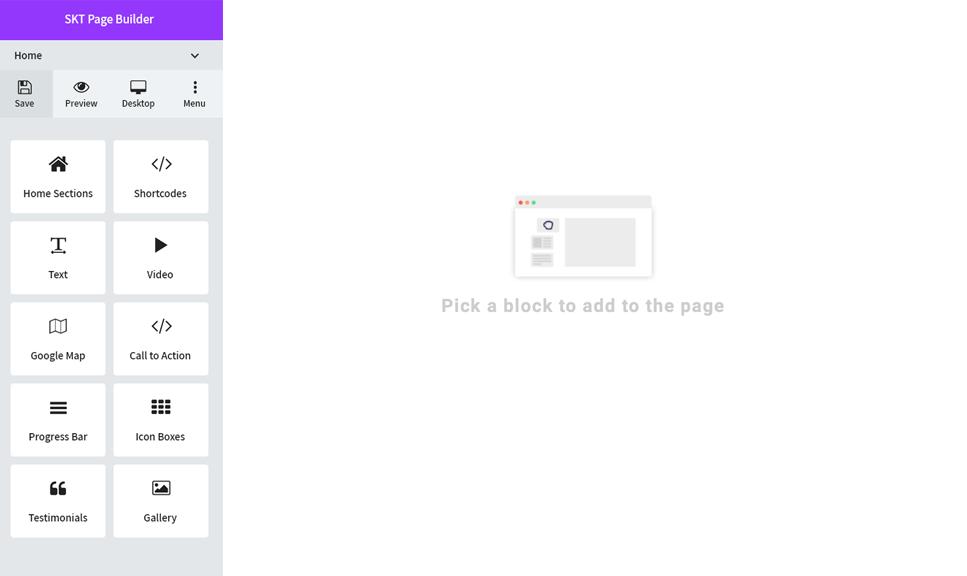 <p>User interface on desktop</p>
