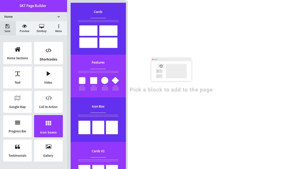 <p>Blocks preview on desktop</p>