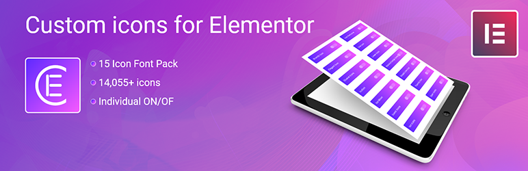 Skyboot custom icons for Elementor