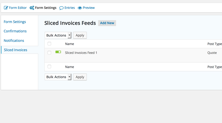 Sliced Invoices & Gravity Forms — Wordpress Plugins