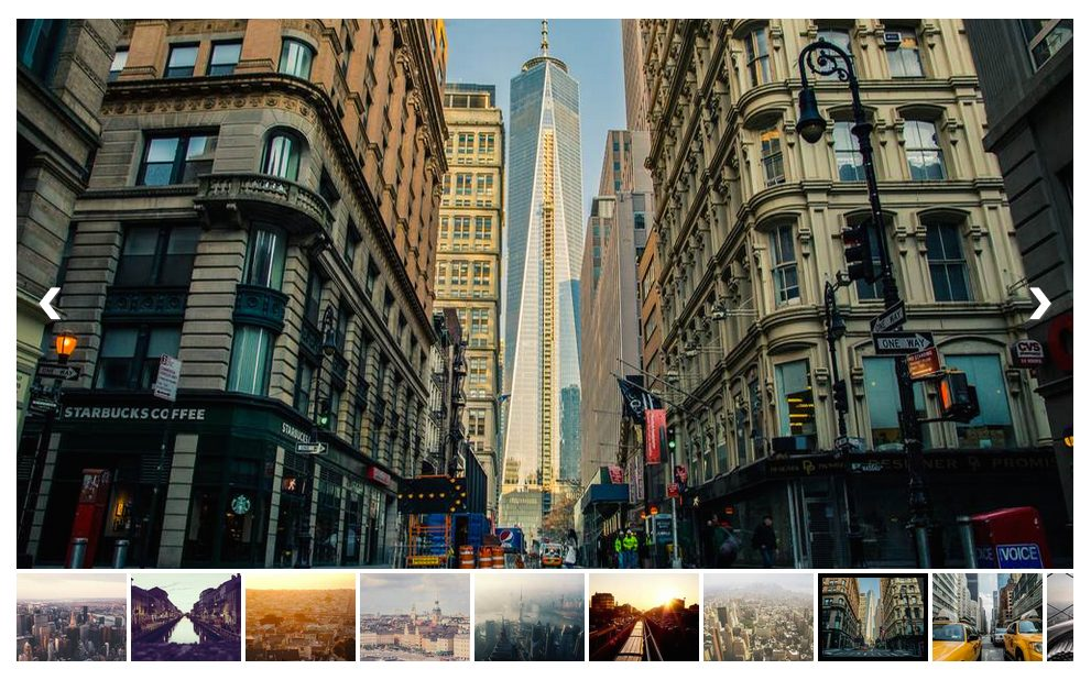 Slider with image thumbnails.