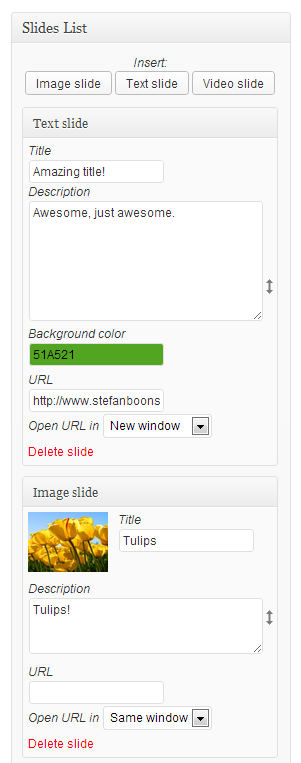 <p>The images you selected are directly visible in your Slides List, don't forget to save!</p>