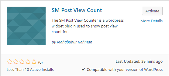 SM Post View Count