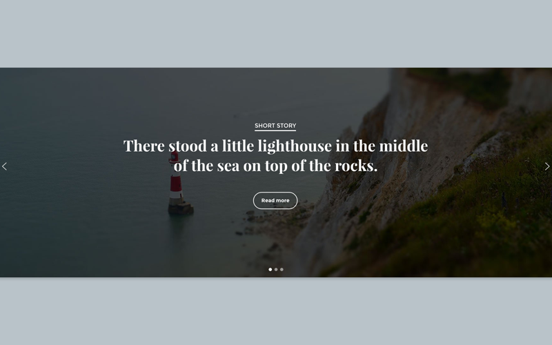Full width content post slider. Made with FREE version.