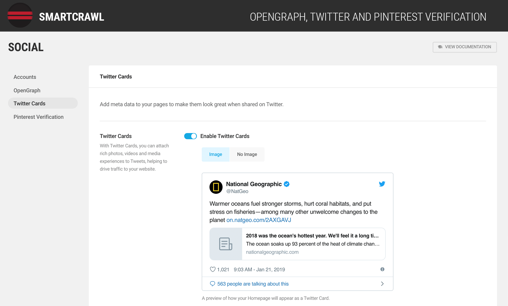Use OpenGraph and Twitter Cards to optimize social sharing.