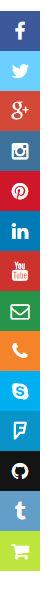 Sliding social icons widget