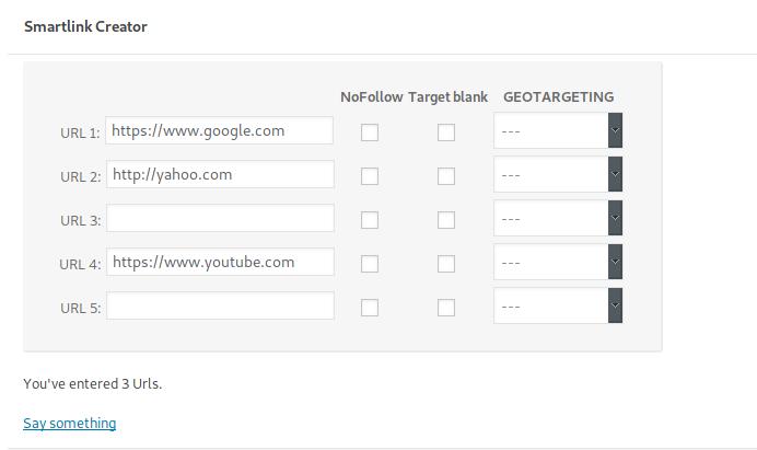 SmartLink Dynamic URLs