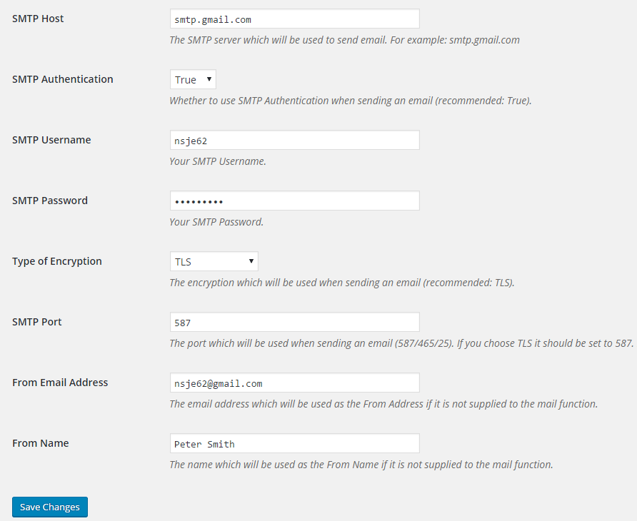 Smtp Mailer Wordpress