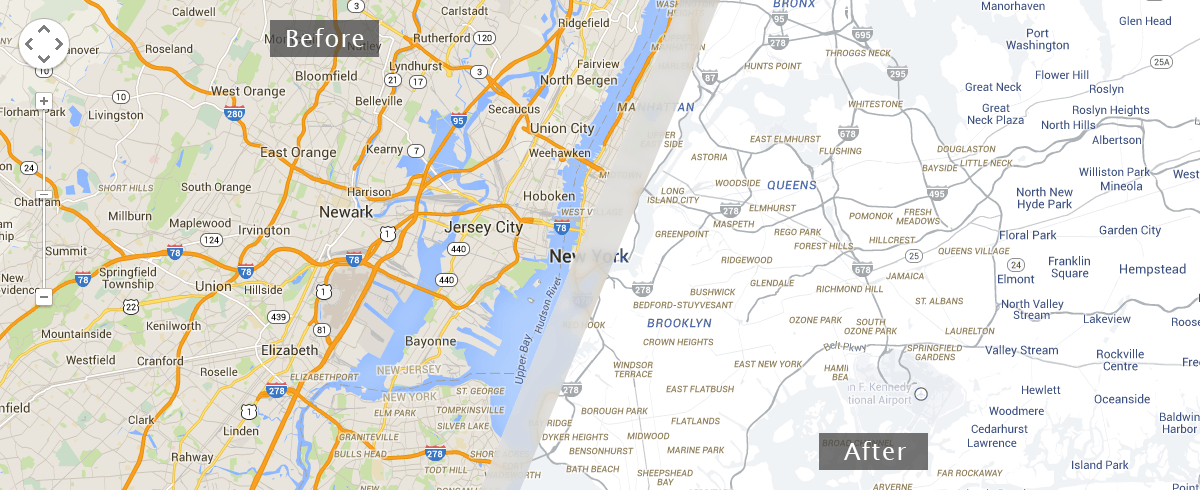 Your Google Map is now a Snazzy Map!