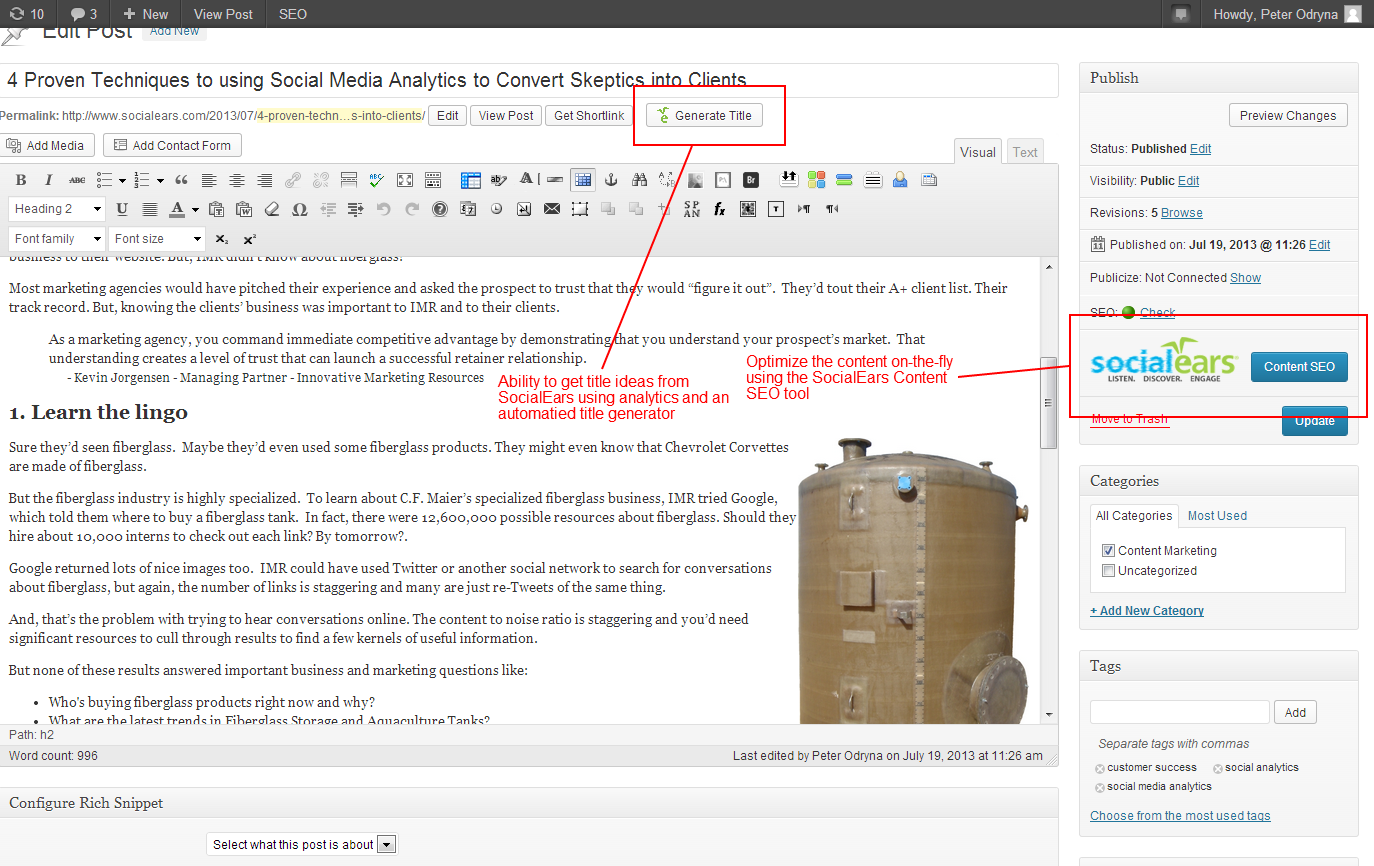social-analytics-and-content-seo-using-socialears screenshot 1