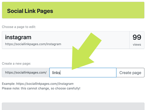 Social Link Pages