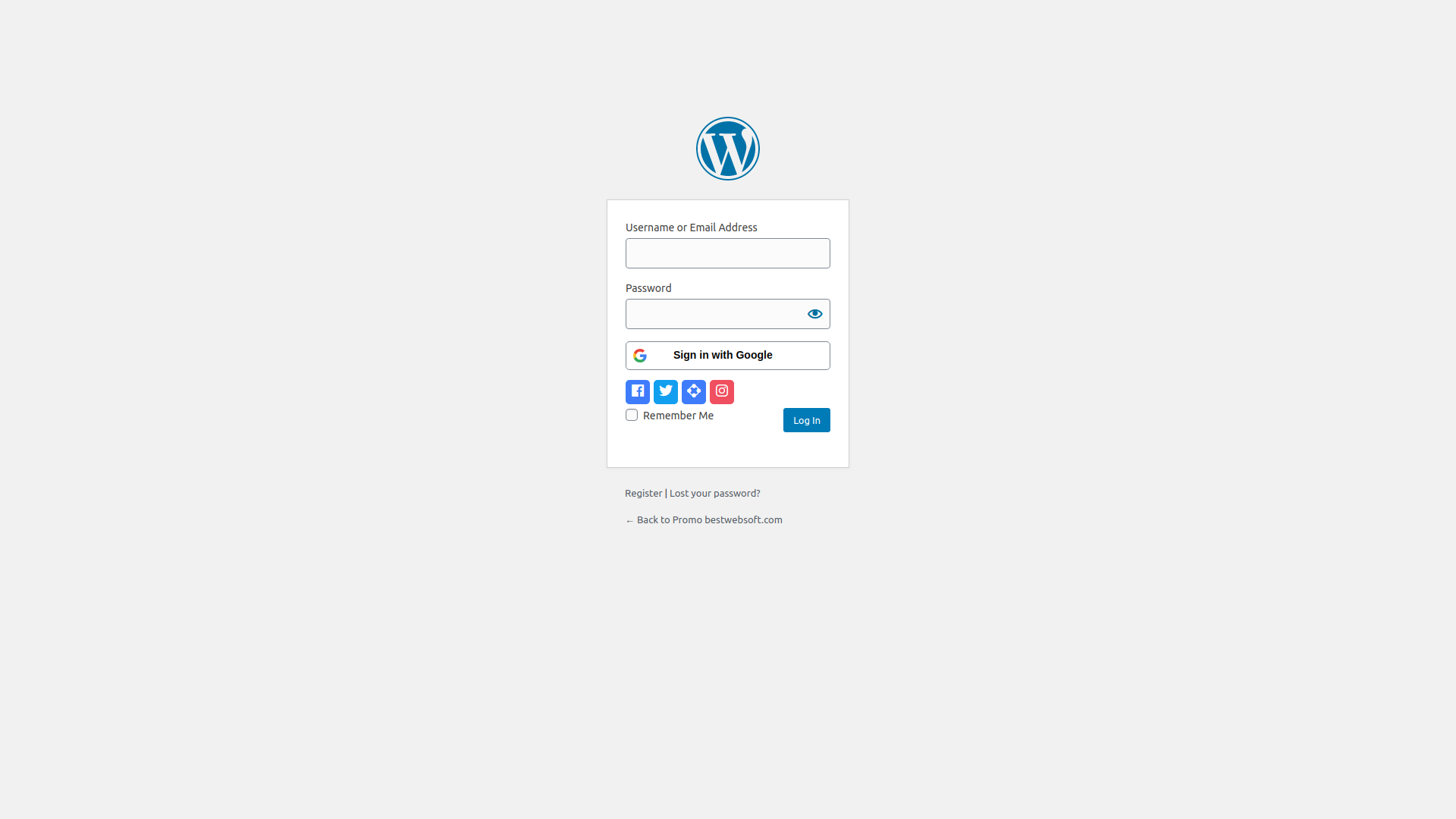 Linking social accounts to existing WordPress account on the profile page.
