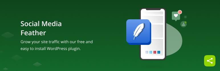 Social Media Feather   social media sharing