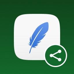 Social Media Feather | social media sharing