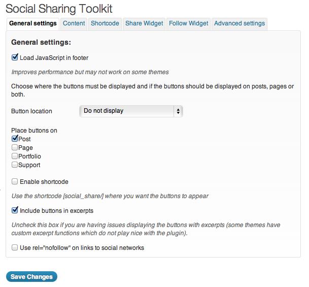 Plugin configuration: General settings
