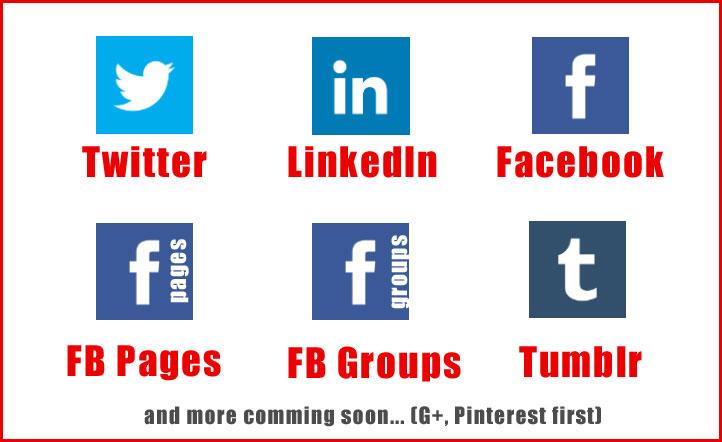 Compartir entradas en redes sociales