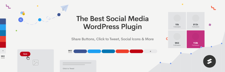 Social Share Buttons, Social Sharing Icons, Click to Tweet — Social Media Plugin by Social Snap