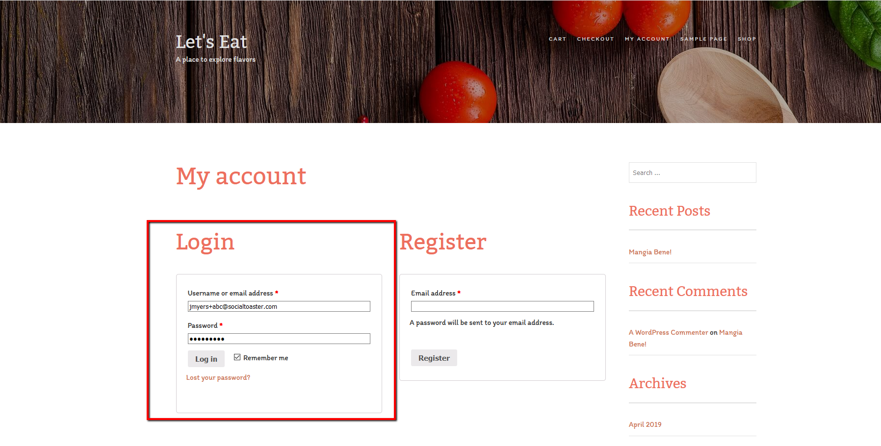 Users logging into your WooCommerce site are automatically logged into their SocialToaster accounts.