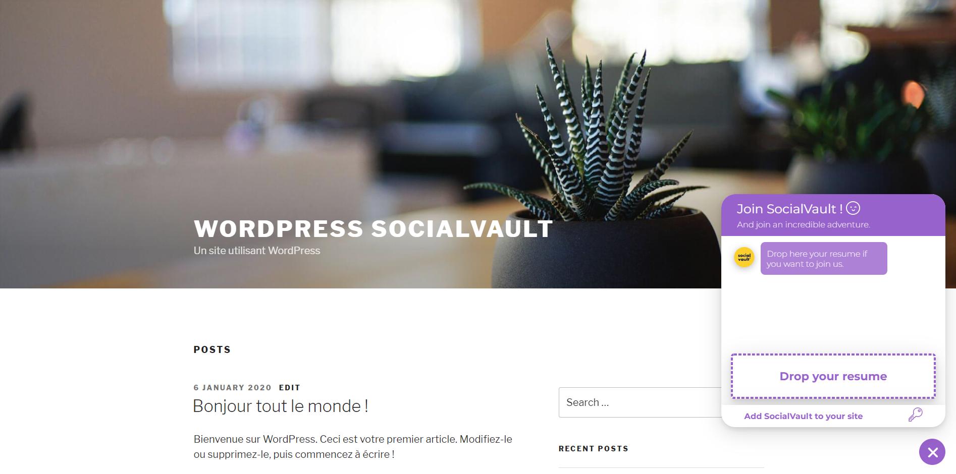 SocialVault for WordPress