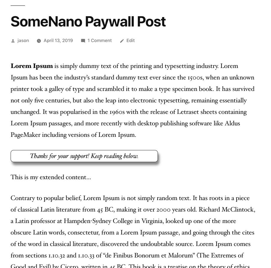 SomeNano for WordPress