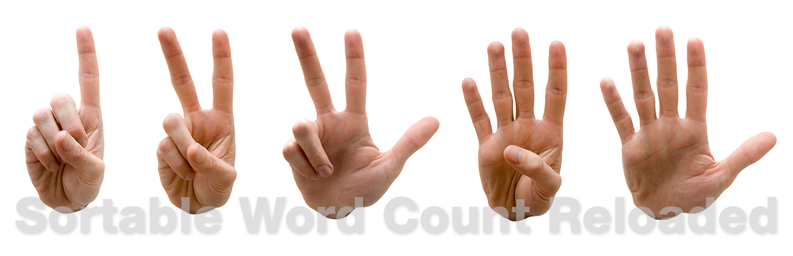 Sortable Word Count Reloaded