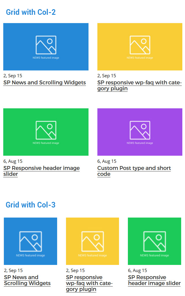 Display News with grid view