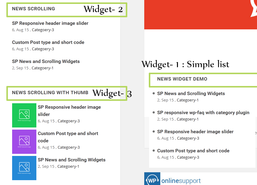 WP News and Scrolling Widgets – WordPress plugin | WordPress org
