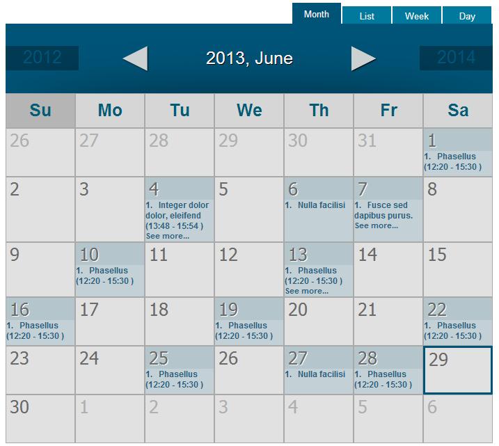 Screenshots. WordPress Event Calendar ...