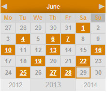 WordPress Event Calendar - Widget Calendar