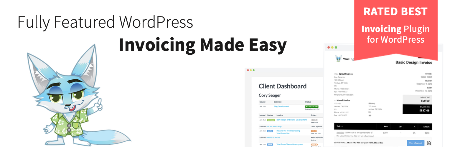 Client Invoicing By Sprout Invoices Easy Estimates And Invoices - Invoice generator plugin for wordpress