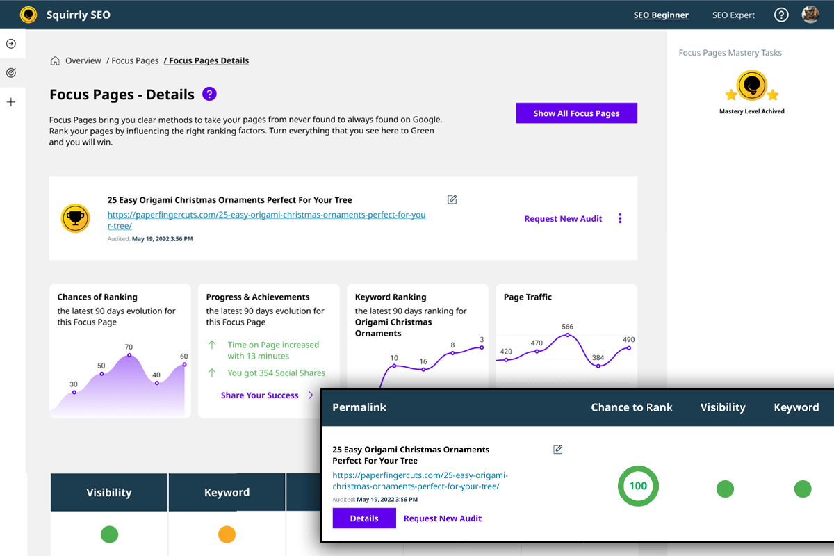 Wp Seo - Find your top posts and authors with Squirrly SEO Analytics