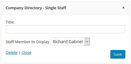 This is the Single Staff Widget.