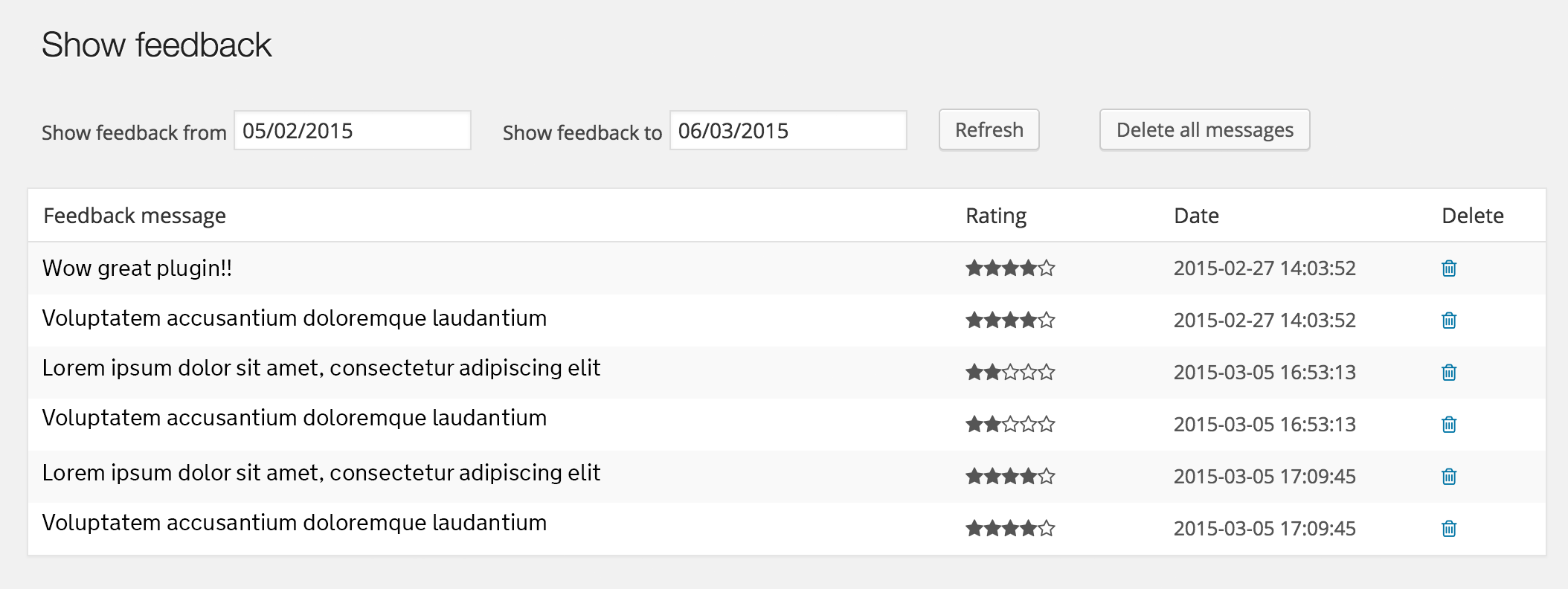 star-rating-feedback screenshot 1