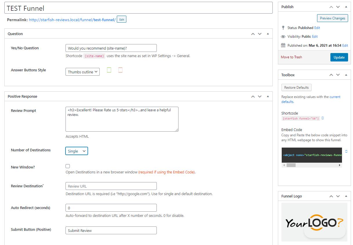 Starfish Review Generation & Marketing for WordPress