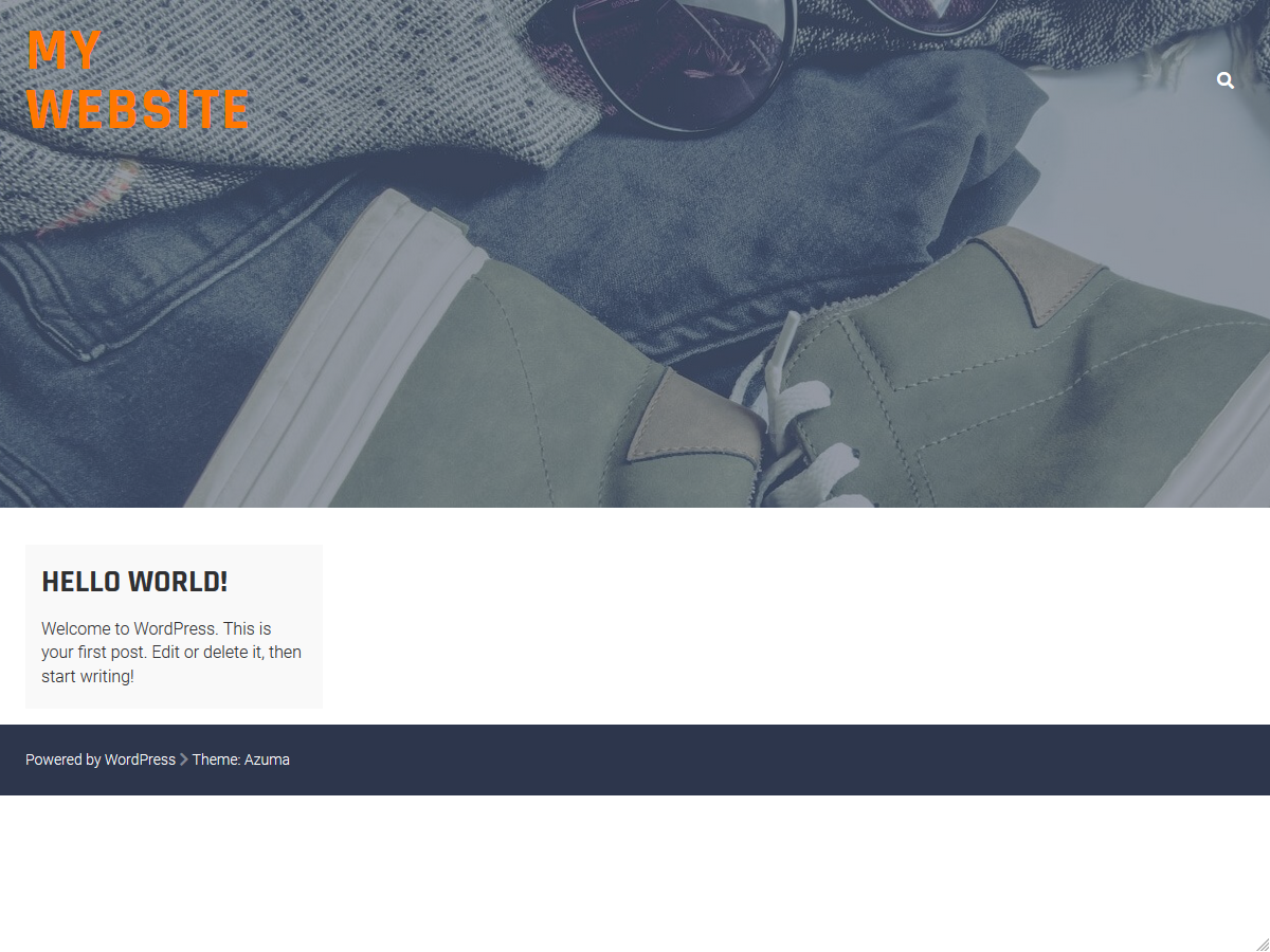 Before: A brand new, empty WordPress site.