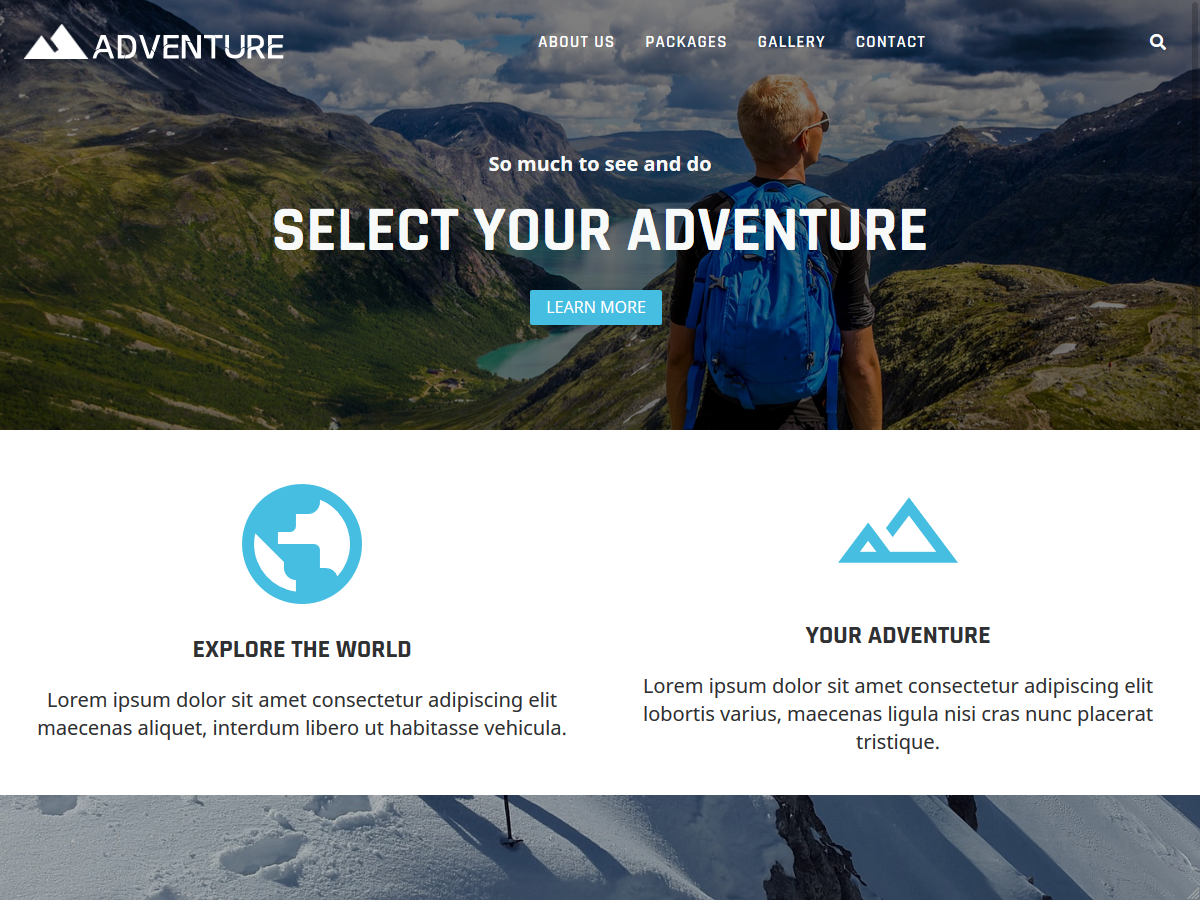 After: Your WordPress site with imported Starter Sites content and theme settings.