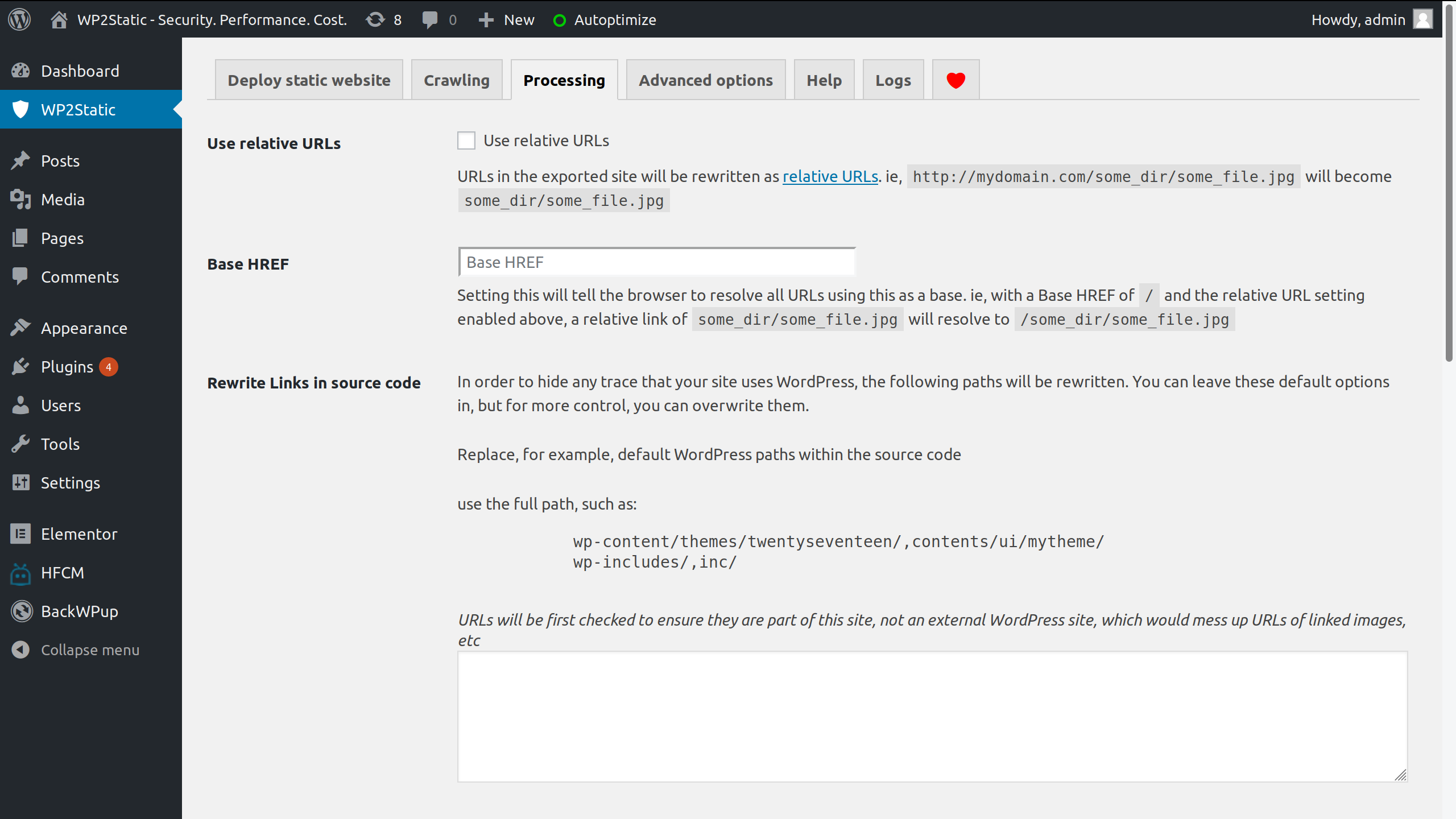 WP2Static – WordPress plugin | WordPress org