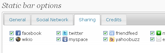 static toolbar backend : sharing sites settings