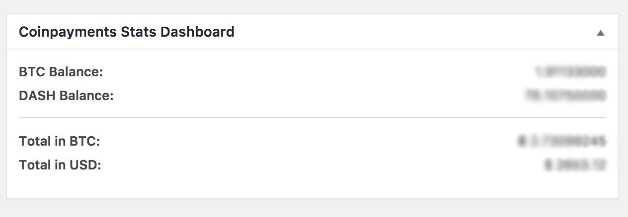 Admin Dashboard Widget