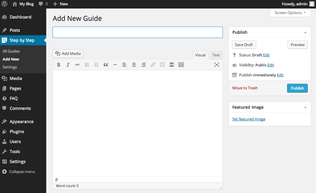 Give your guide a title and add some background information.