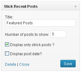 stick-post-widget screenshot 1