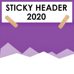 Sticky Header 2020