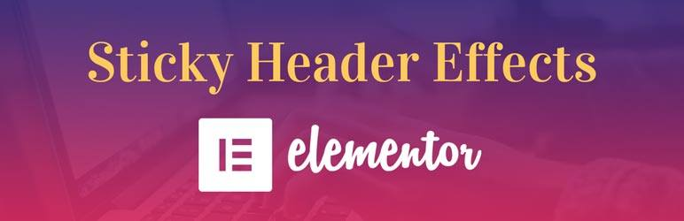 Sticky Header Effects for Elementor – WordPress plugin