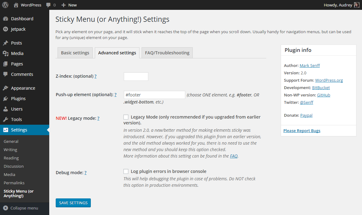 Sticky Menu (or Anything!) on Scroll – WordPress plugin | WordPress org