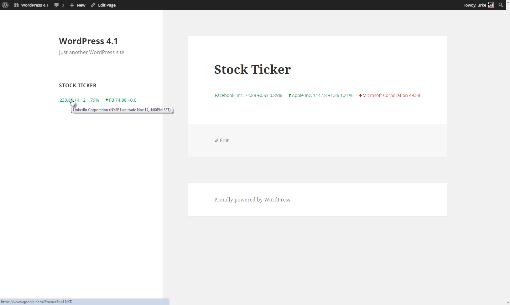 Stock ticker wordpress plugins stock ticker in action buycottarizona Images