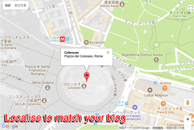 Localise the Map to match your Blog