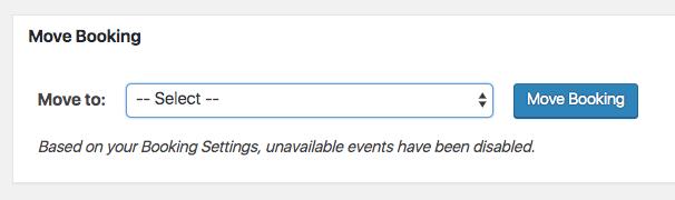 Meta Box in the Single Booking Page.