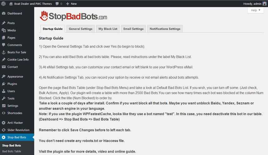 Default Bot Table