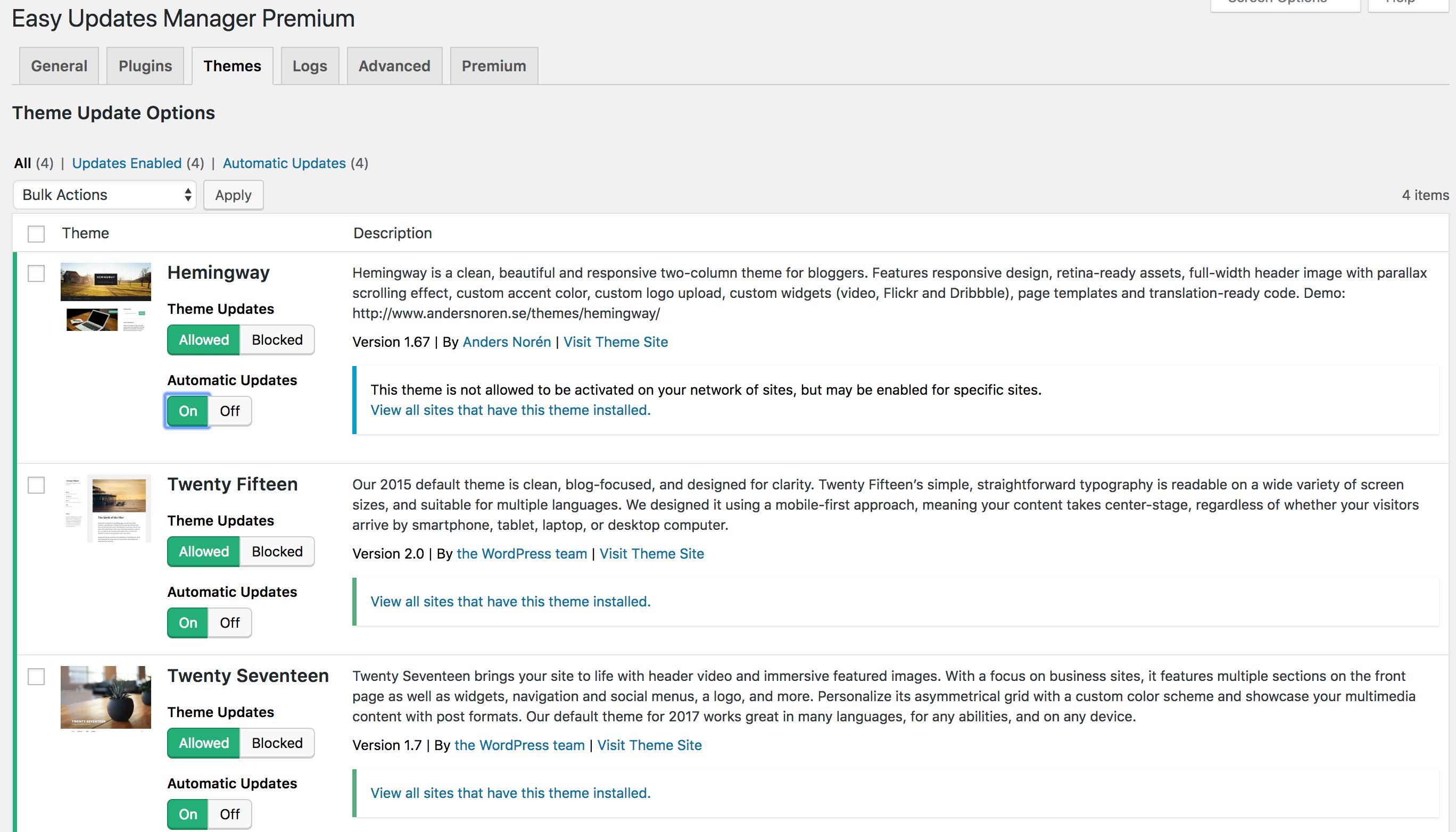 Easy Updates Manager – WordPress Plugin   WordPress.org Deutsch